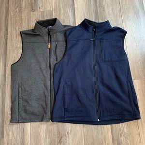 Izod Mens Fleece Sweater Vest XL (2 Vests)